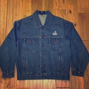Vantage vintage blue wash denim jacket. Medium